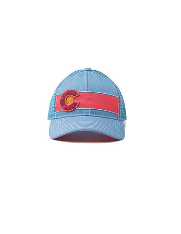 Republic Colorado Flag Trucker Hat In Light Blue