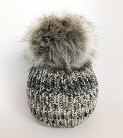 Odessa Beanie In Mixed Grays