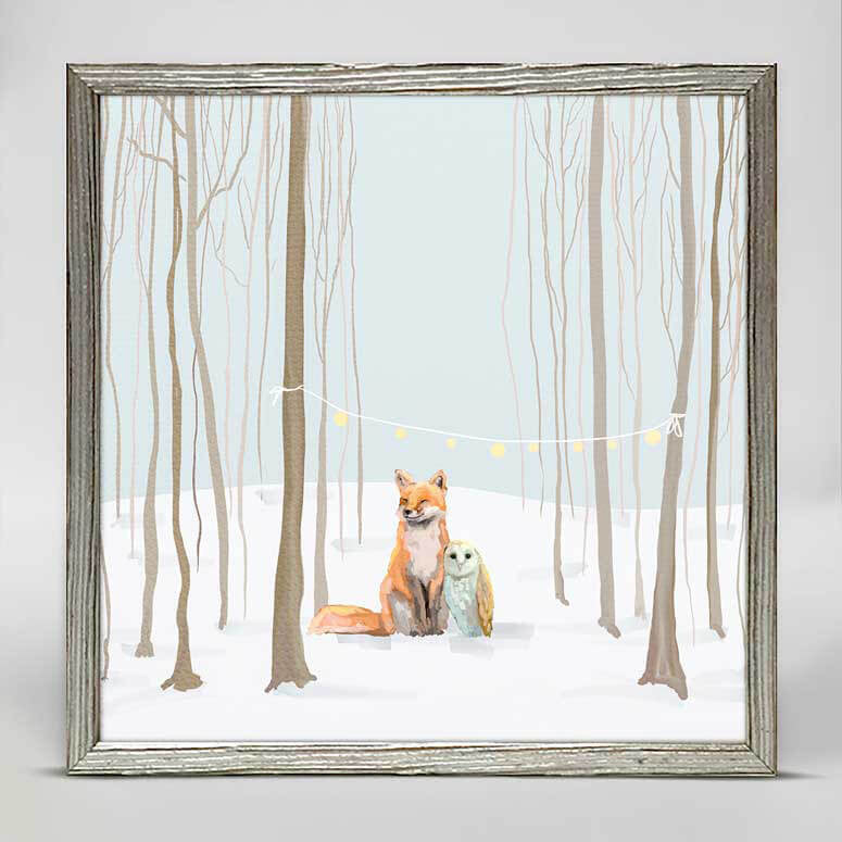 Holiday Collection – 'Hygge Forest Scene' Mini Framed Canvas