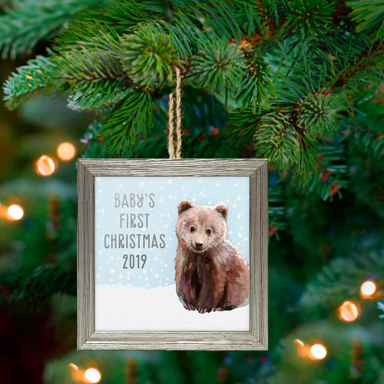 Holiday 'Snowy Baby Bear Cub' Ornament