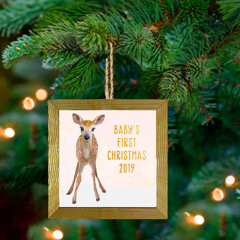 Holiday 'Snowy Fawn' Ornament