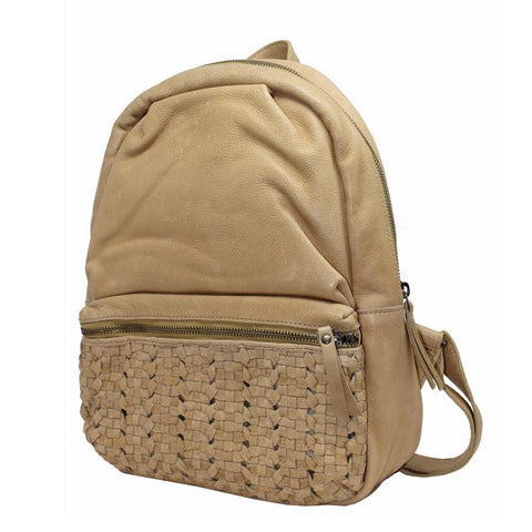 Latico James Leather Backpack In Honey