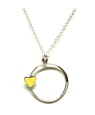 Vega Heart Necklace On Sterling Silver