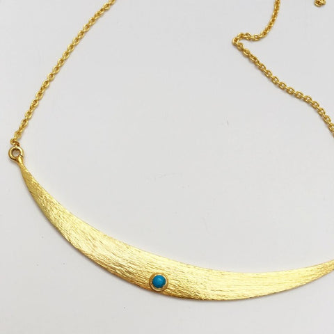 Shield Maiden Necklace, Gold