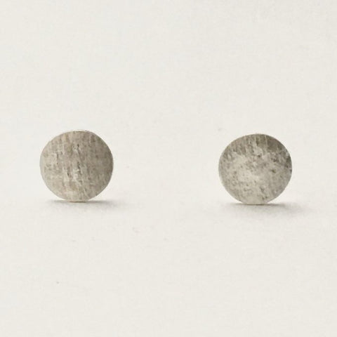 Mini Brushed Studs, Silver