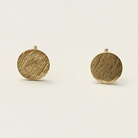 Mini Brushed Studs, Gold