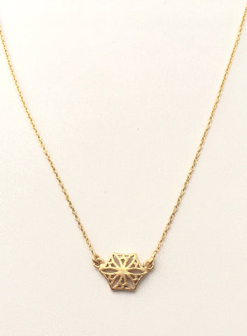 Colorado Snowflower Necklace, Gold