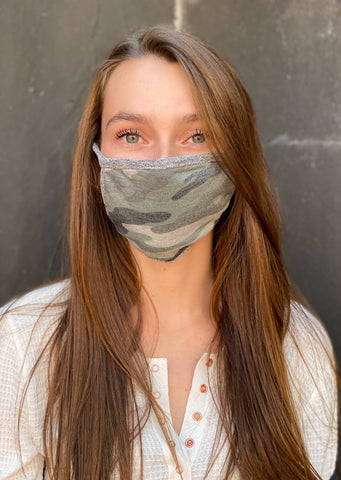 Adult Reusable Face Mask, Camo