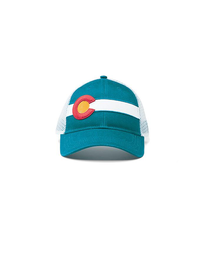 Republic Colorado Flag Trucker Hat In Teal