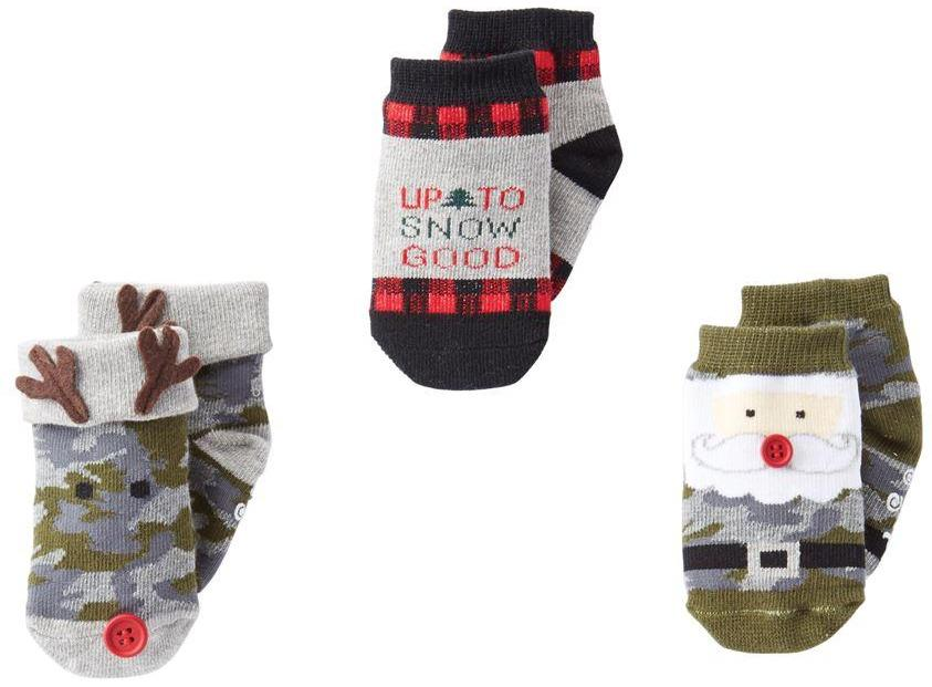 Joey Christmas Camo Sock Set