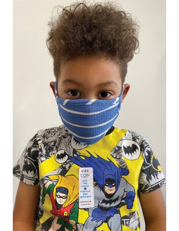 Kids Reusable Face Mask, Sky Bright Stripe