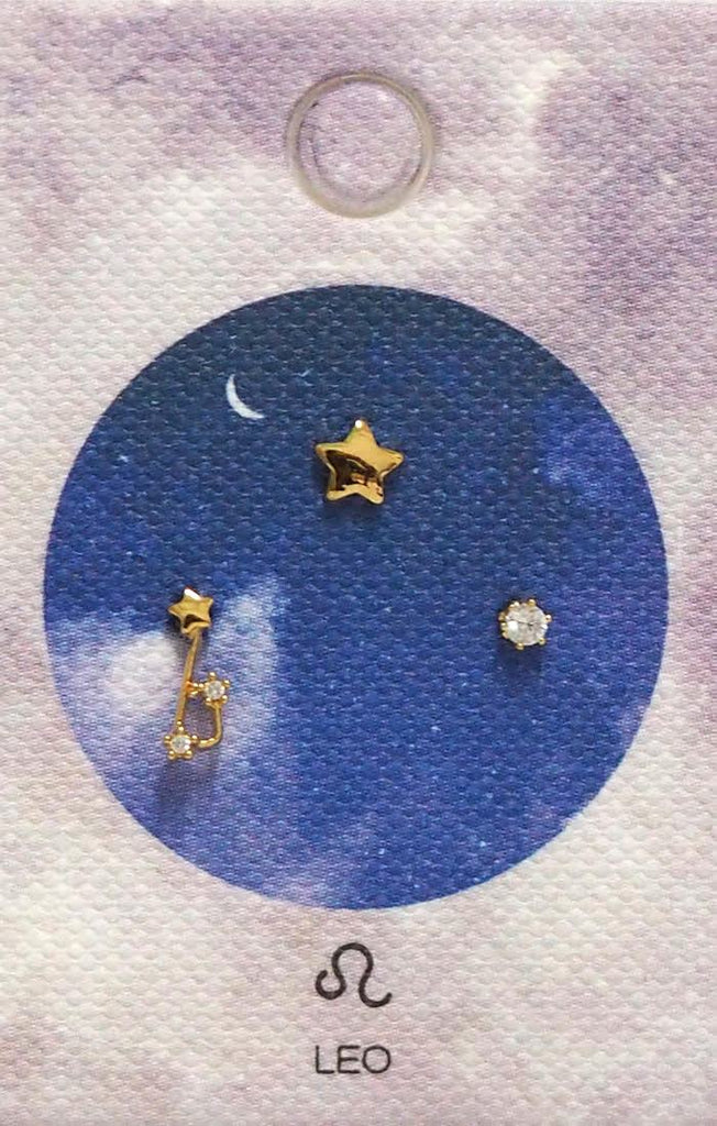 Tai Jewelry Zodiac Constellation Earrings - Leo