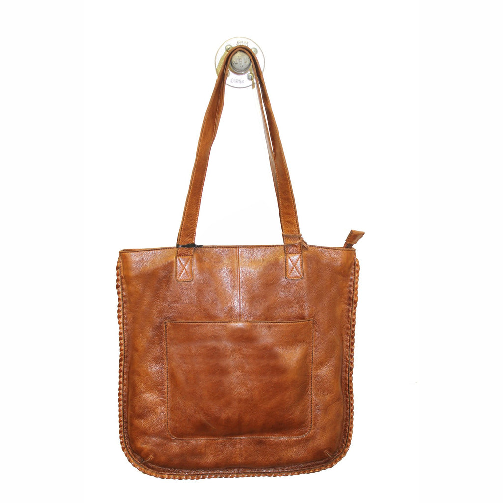 Latico Leathers Lizzie Tote In Cognac