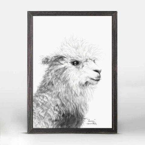 Green Box Lauren The Llama Mini Framed Canvas