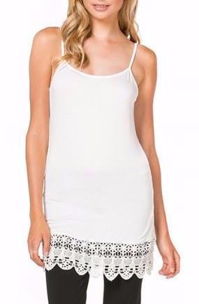 Adelind Crochet Trim Cami In Ivory