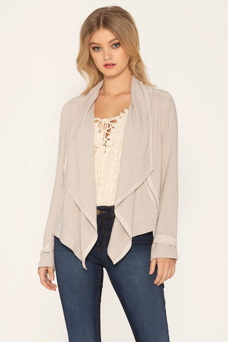 """True Beauty"" Draped Jacket"