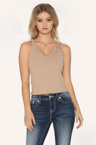 """Found My Love"" Tank in Beige"