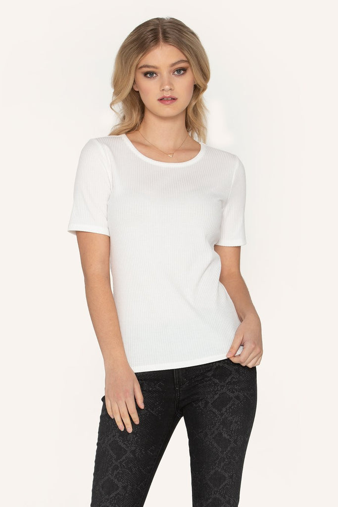 """Clarity"" Top in White"