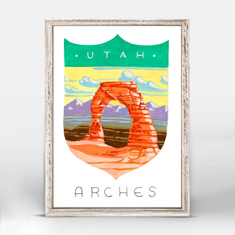 Arches National Park Mini Framed Canvas