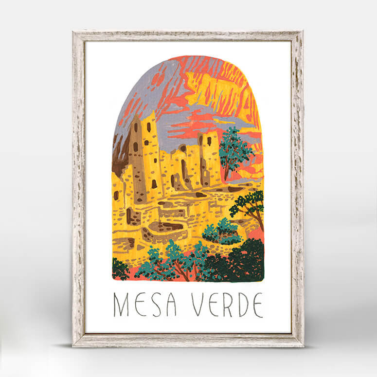 Mesa Verde National Park Mini Framed Canvas