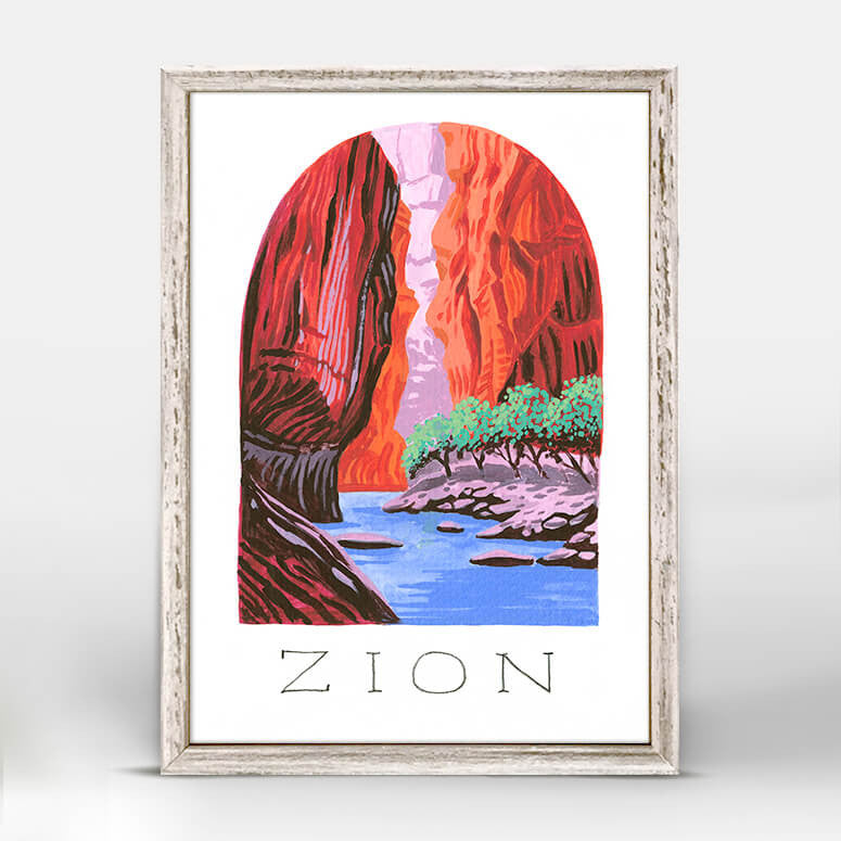 Zion National Park Mini Framed Canvas
