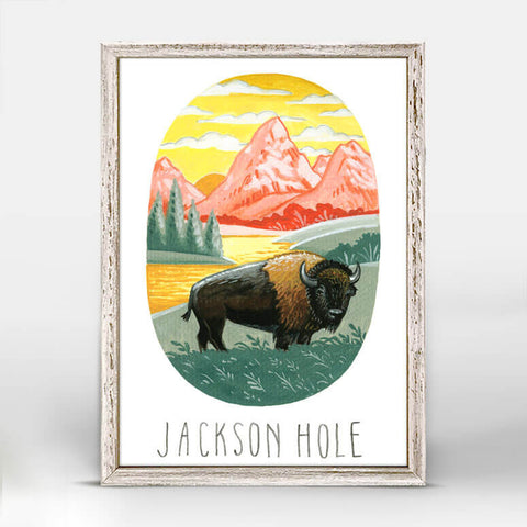 Jackson Hole Mini Framed Canvas