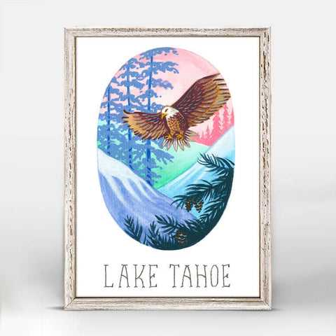 Lake Tahoe Park Mini Framed Canvas
