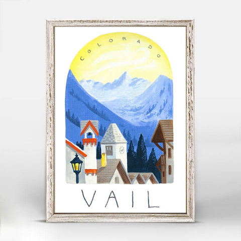 Vail Mini Framed Canvas