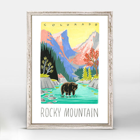 Green Box Rocky Mountain Mini Framed Print