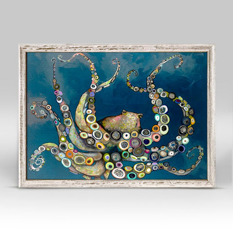 Octopus In The Deep Blue Sea Mini Canvas