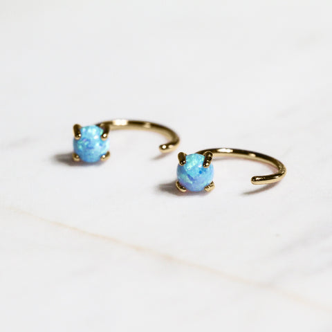 Jax Kelly Opal Huggie Earrings