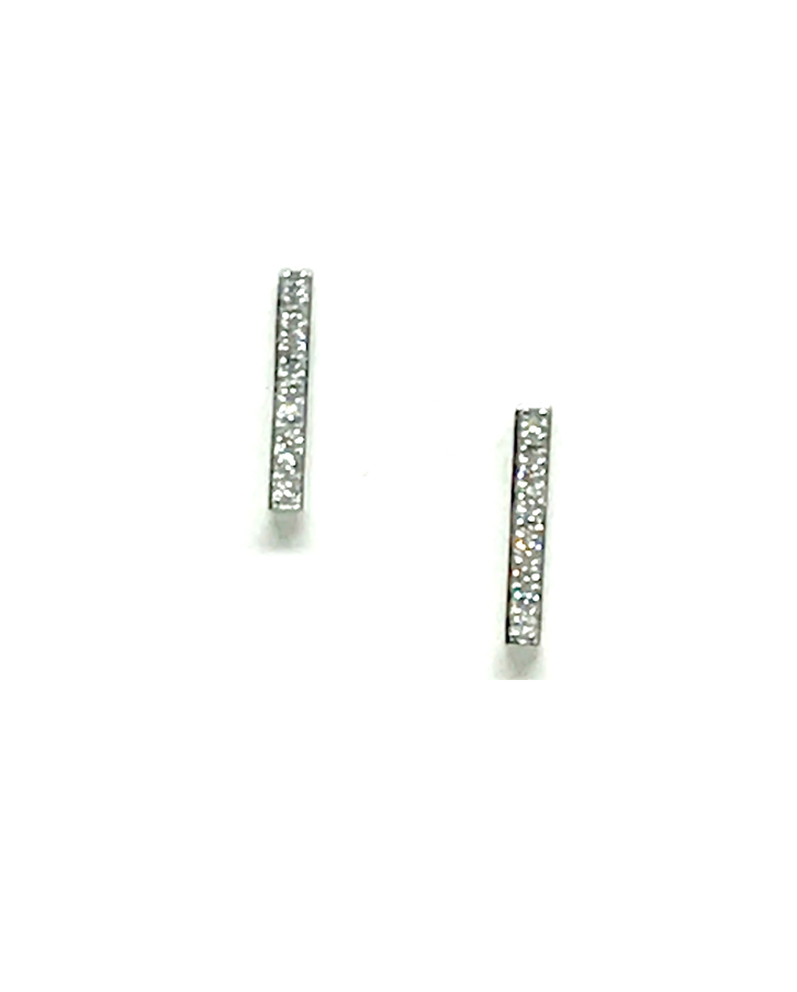 Athena Designs Kristine Pave Bar Earrings