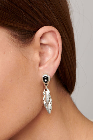 """Look At Me"" Earrings In Grey Uno de 50"