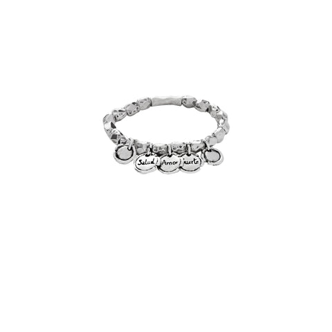 Luck, Love & Health Silver Bracelet