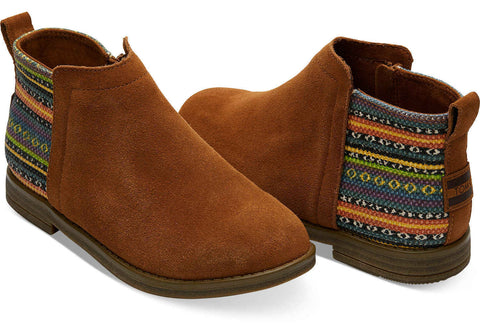 Kids TOMS Deia Bootie In Cinnamon