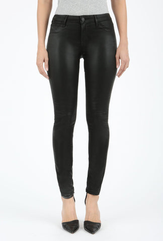 Topeka Black Leather Jeggings