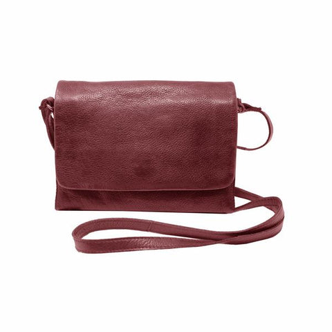 Latico Leathers Serge Crossbody In Oxblood
