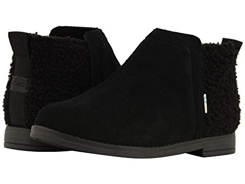 Kids TOMS Deia Bootie In Black Shearling