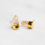 Gold Dipped Smokey Quartz Stud Earrings Jax Kelly