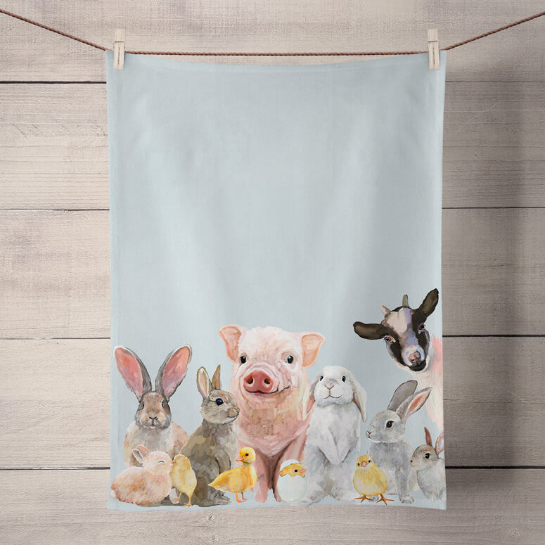 Green Box Spring Babies Tea Towel