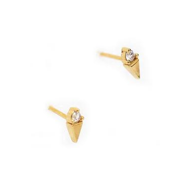 Tai Jewelry Mini Triangle CZ Studs