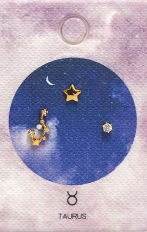 Tai Jewelry Zodiac Constellation Earrings - Taurus
