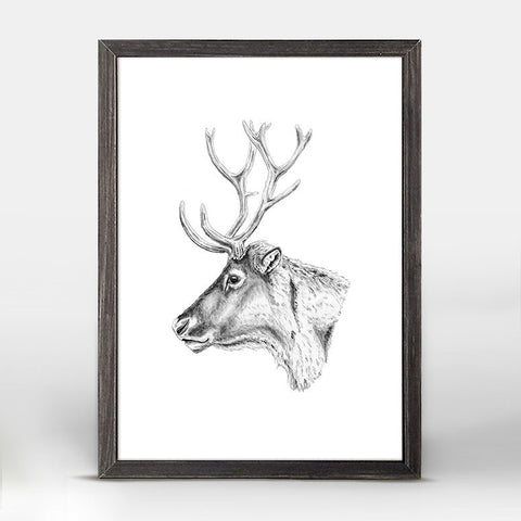 Caribou Mini Framed Canvas