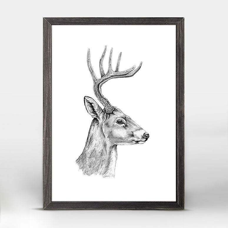 Greenbox Deer Mini Framed Canvas
