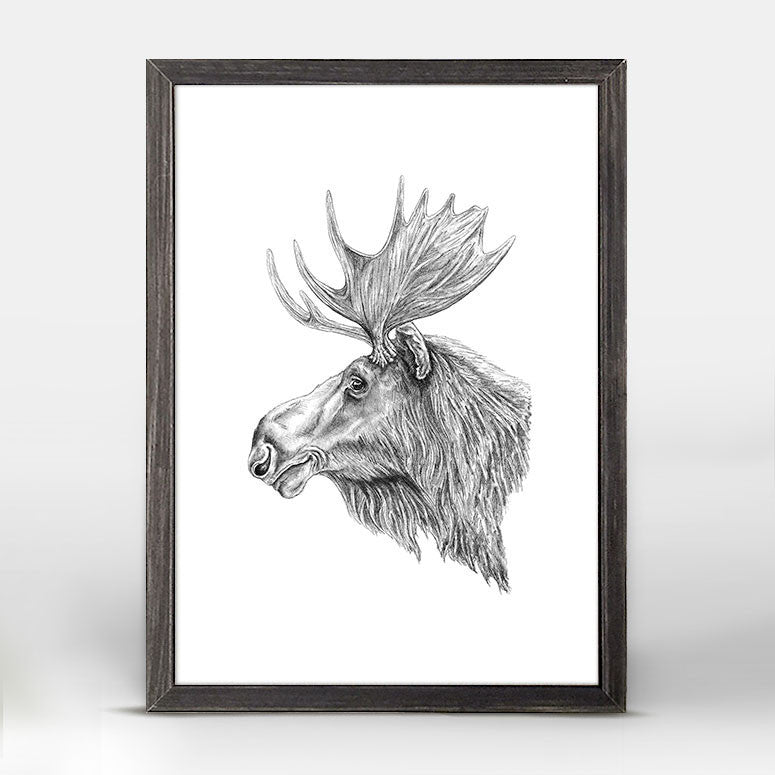 Moose Mini Framed Canvas