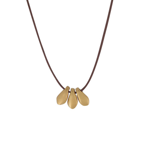 3 Petal Gold Necklace