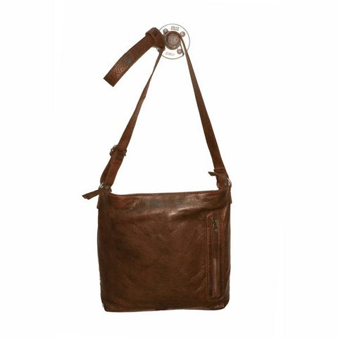 Latico Leathers Turner Crossbody In Brown