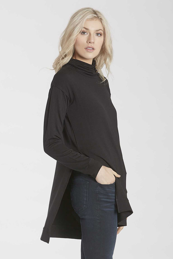 Lelaina Black Turtle Neck Top