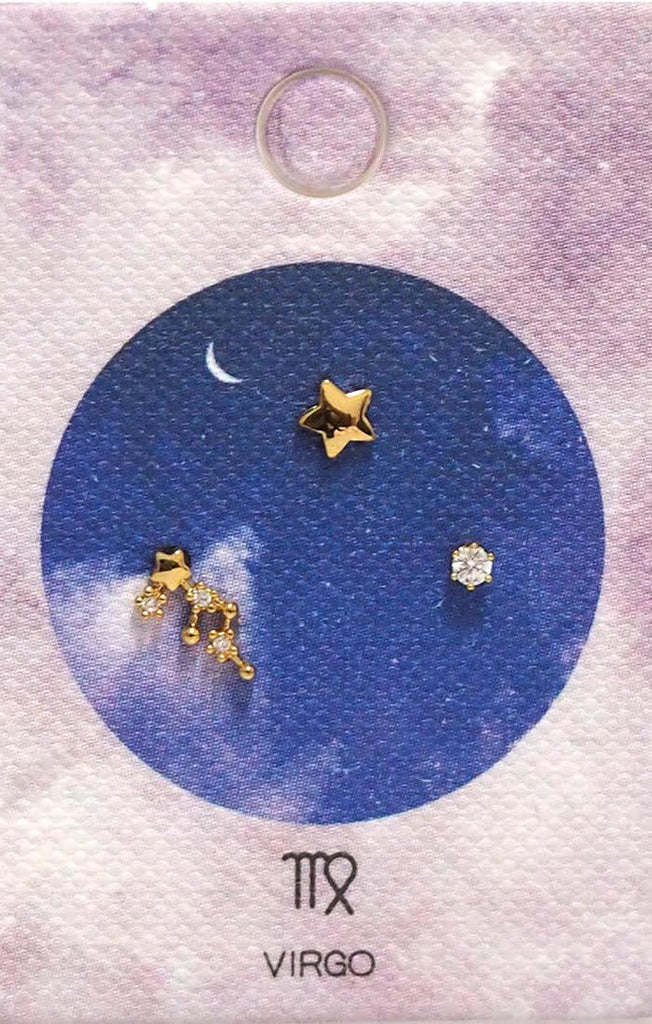 Tai Jewelry Zodiac Constellation Earrings - Virgo