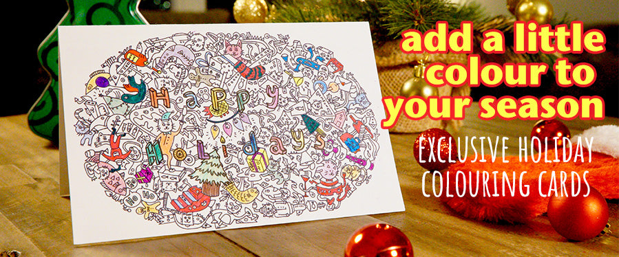Catomelon Holiday Colouring Card